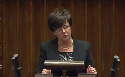 Joanna Kluzik-Rostkowska z PO o związkach partnerskich