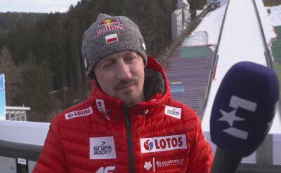 Adam Małysz po środowych treningach w Innsbrucku