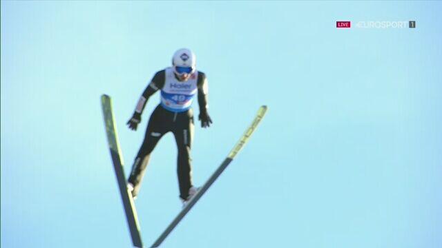 Skok Kamila Stocha z 2. serii konkursu na skoczni dużej