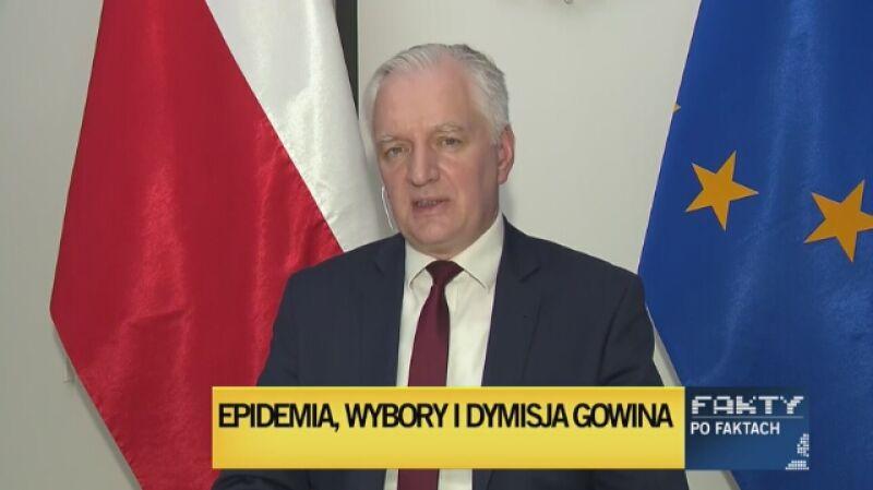"""Jarosław Gowin gościem """"Faktów po Faktach"""""""