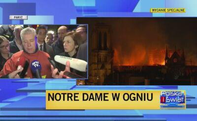 Strażak ratujący Notre Dame: zatrzymaliśmy rozprzestrzenianie się ognia
