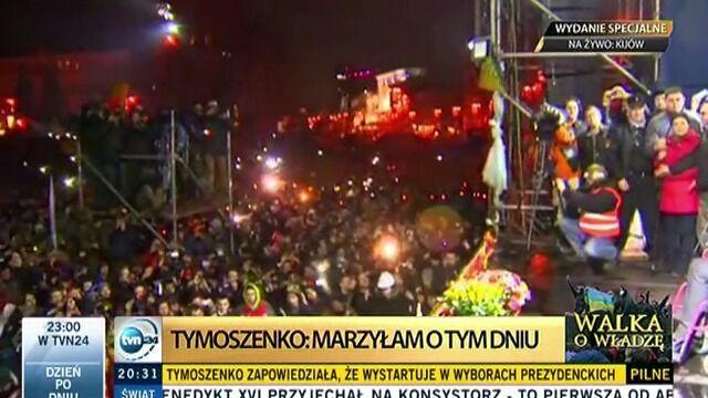 Tymoszenko przemawia na Majdanie