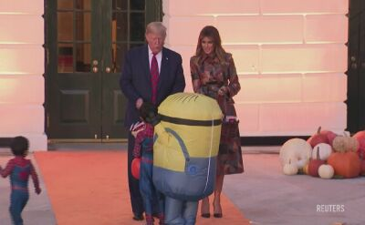 Halloween u Trumpa. Prezydenta odwiedziło dziecko przebrane za Minionka