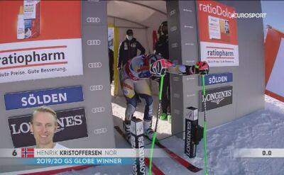 Henrik Kristoffersen - 1. przejazd w gigancie w Soelden