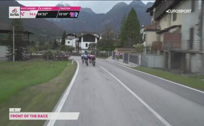 Wypadek na trasie 15. etapu Giro d'Italia