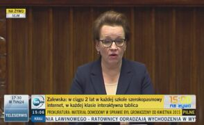 Anna Zalewska: Polski uczeń będzie uczył się o rok dłużej