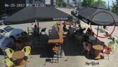 Kradzież leżaka w kawiarni