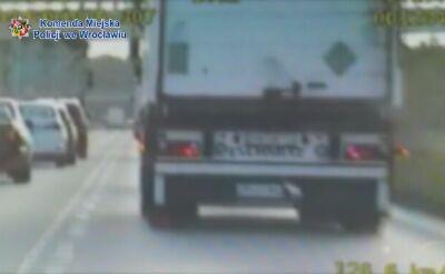 Pijany kierowca tira zatrzymany przez policjantów z grupy SPEED