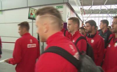 Reprezentacja Polski w drodze na mecz z Łotwą