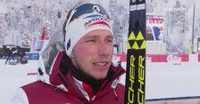 Dominik Bury po biegu pościgowym na 15 km w Ruce
