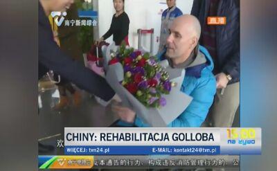 Przyjazd Golloba transmitowała chińska telewizja