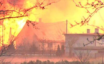 Akcja ratunkowa podczas pożaru w Wielkopolsce