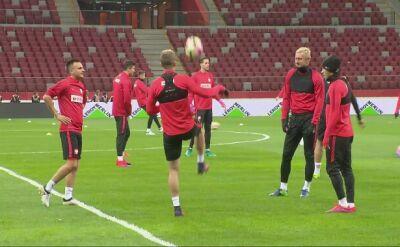 Ostatni trening Polaków przed meczem z Danią