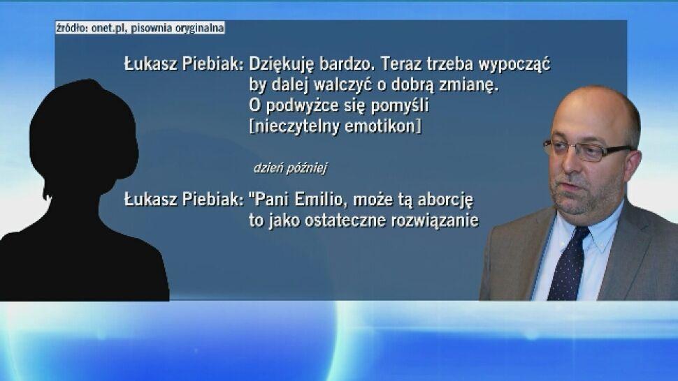 """Prokuratura prowadzi postępowanie sprawdzające, a UODO """"analizuje sprawę"""" Piebiaka"""