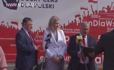 """Kandydatki PiS do Sejmu pokłóciły się przed konferencją. """"Niech się pani nie popisuje"""""""