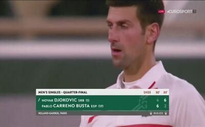 Djoković wyrównał stan starcia z Carreno-Bustą w ćwierćfinale Roland Garros
