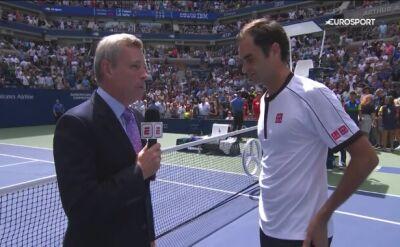 Roger Federer po pokonaniu Davida Goffina na US Open