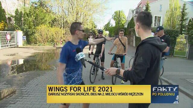 Dariusz Nożyński drugi w Wings for Life 2021