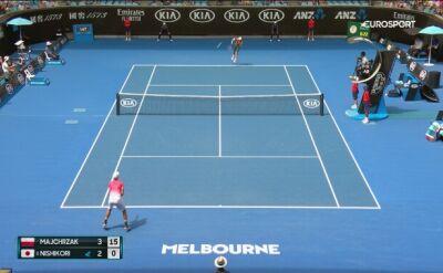 Skrót meczu Majchrzak - Nishikori w 1. rundzie Australian Open