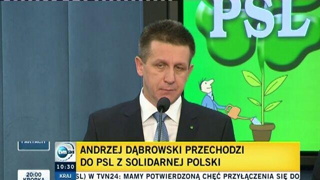 Dąbrowski przechodzi do PSL. Kurski: To próba rozbicia realnej opozycji