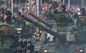 Przejazd czołgów PT91, Abrams M1A1 i hałbic Krab