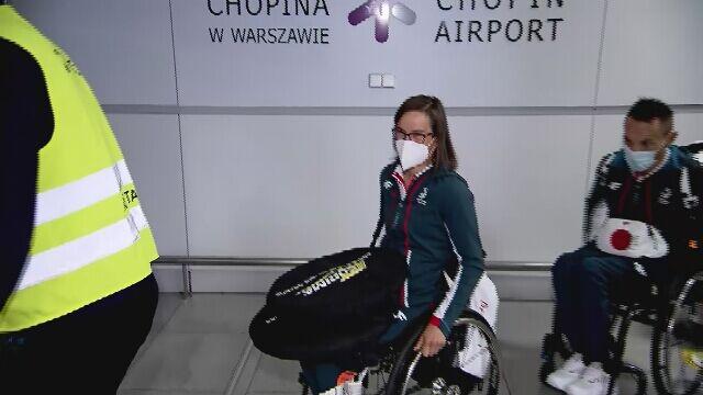 Paraolimpijczycy wylądowali na Okęciu