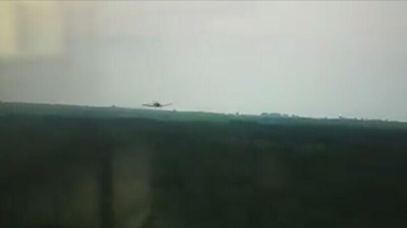 Opryski lasu z samolotu