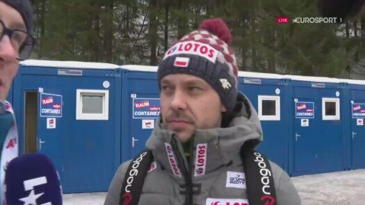 Trener Michal Doleżal i skoczkowie o odwołanych kwalifikacjach