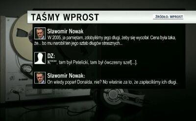 """Sławomir Nowak: PO """"wykupiło długi"""" sztabu prof. Religi"""