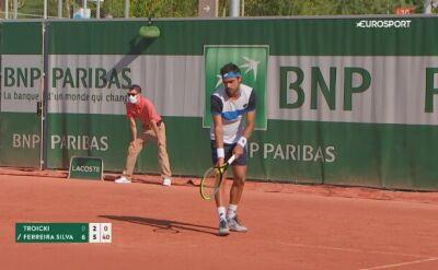 Troicki odpadł z kwalifikacji French Open w ponad godzinę