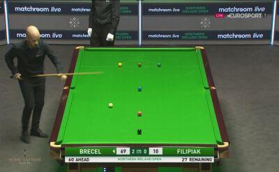 Luca Brecel wygrywa 3. frejma z Kacprem Filipiakiem w Northern Ireland Open