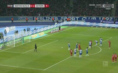 Hertha - Bayern 0:4. Gol Lewandowskiego
