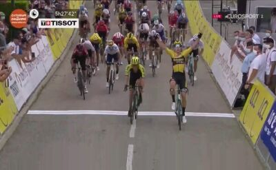Wout van Aert wygrywa 1. etap Criterium du Dauphine