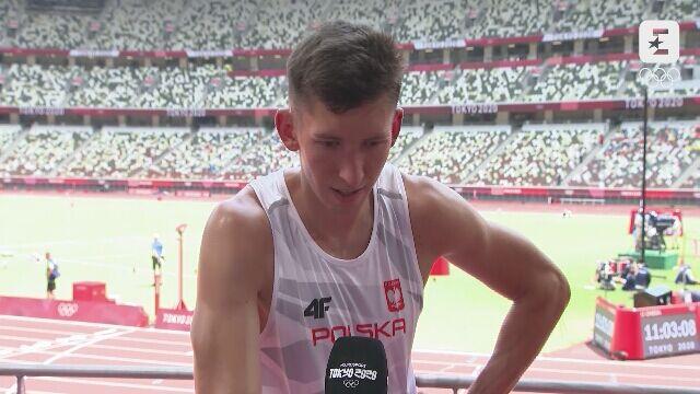 Tokio. Lekkoatletyka: Damian Czykier po biegu półfinałowym na 110 m przez płotki