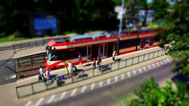 Gdańszczanie na rózne sposoby promują jazdę tramwajem