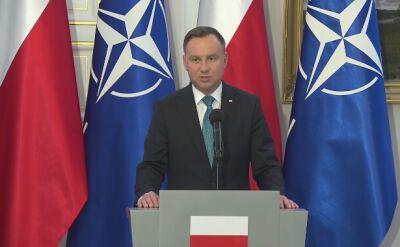 Prezydent Duda po spotkaniu z szefem NATO