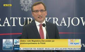 Zbigniew Ziobro o stanie śledztwa w sprawie śmierci Polki