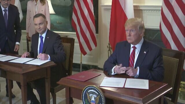 Prezydenci Duda i Trump podpisali deklarację o współpracy obronnej Polski i USA