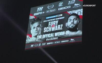 Ważenie przed walką Fury - Schwarz