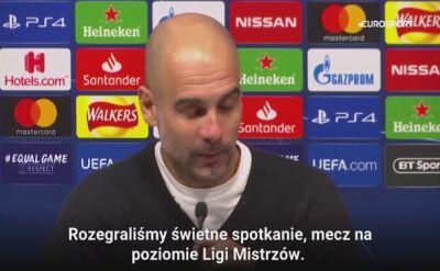 Guardiola po meczu Tottenham - Manchester City