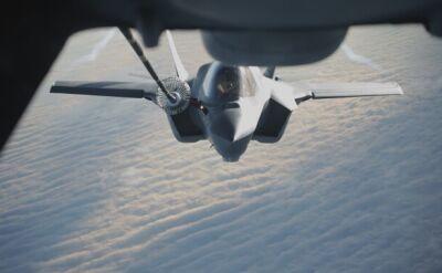 F-35 w locie do Wielkiej Brytanii