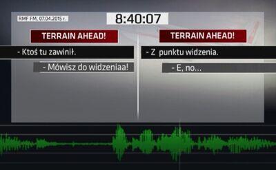 Dokładniejszy zapis głosów z kabiny pilotów tuż przed katastrofą w Smoleńsku