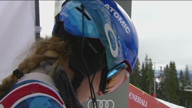Mikaela Shiffrin wygrała 1. przejazd slalomu w Are