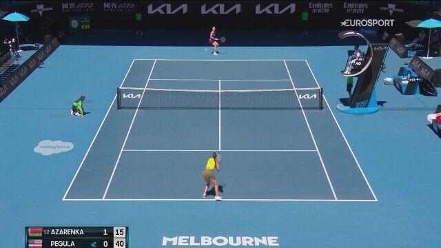 Skrót meczu 1. rundy Australian Open Wiktoria Azarenka - Jessica Pegula