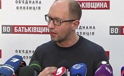 Jaceniuk: Rząd już został odwołany, stracił zaufanie