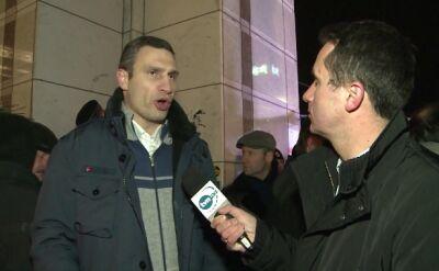 Witalij Kliczko w rozmowie z TVN24