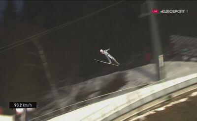 Skok Piotra Żyły z 2. serii konkursu w Lillehammer