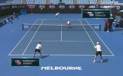 Skrót meczu Kubot/Zeballos - Harrison/Querrey w ćwierćfinale Australian Open