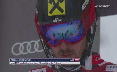 Drugie miejsce Hirschera w slalomie w Kitzbuehel