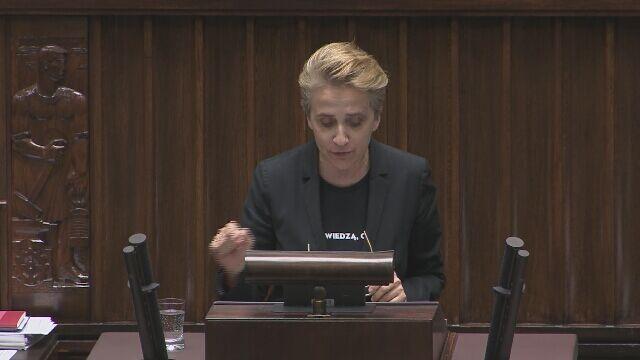 Debata nad odwołaniem minister Zalewskiej. Wystąpienia polityków